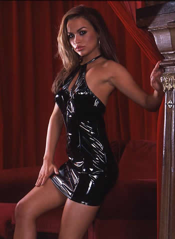Look great in this Sexy PVC Dress!