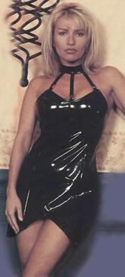 PVC Dress with Chocker Collar